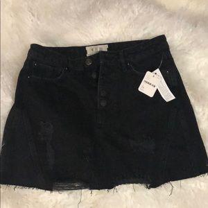 BNWT Free People black skirt. Size 26
